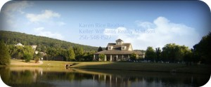 aa lake and clubhouse with test